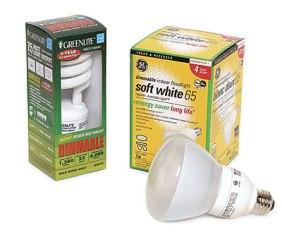 Компактная люминесцентная лампа с возможностью регулирования яркости