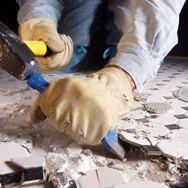 Как удалять старую керамическую плитку