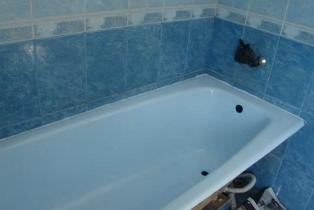 Восстановленная ванна радует глаз