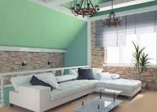 Дизайн квартиры в малахитовом цвете