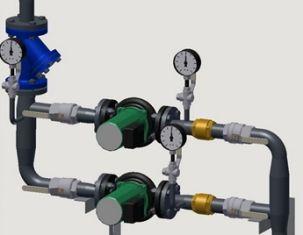 Обвязка циркуляционных насосов в системе обогрева