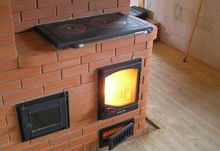 Отопительно-варочная печь для загородного дома