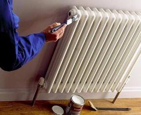 Покраска радиатора отопления