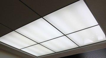 Светодиодные лампы в светильниках распределенного света