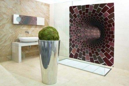мозаика в интерьере комнаты