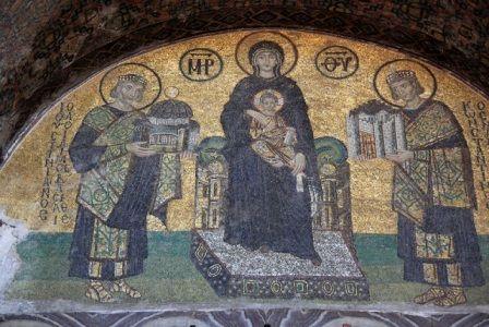 мозаика в церкви Святой Софии в Киеве