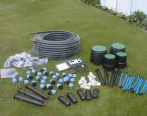 Автоматическая дождевальная установка для полива участка