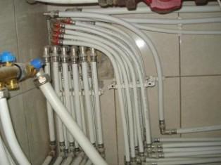 Металлопластиковые трубы после монтажа