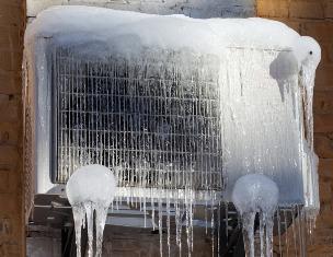 Замерз внешний блок кондиционера