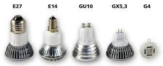 Виды цоколей светодиодных ламп