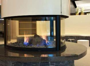 газовая печь камин