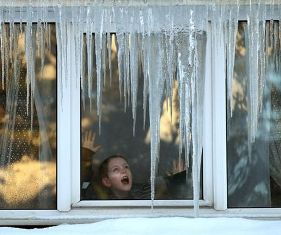 Окна зимой