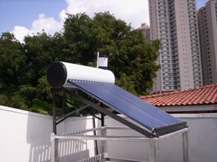 гелиоколлектор на крыше