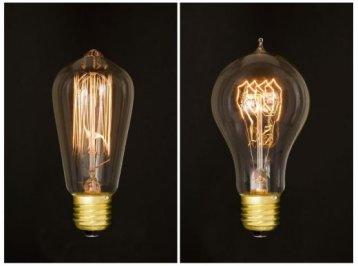 Старинные лампы накаливания