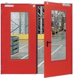 стеклянная противопожарная дверь