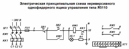 Электрическая схема ящика Я5110
