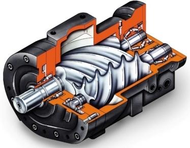Устройство винтового компрессора