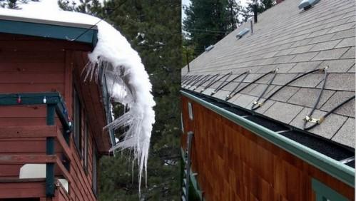 защита карнизов крыш от сосулек