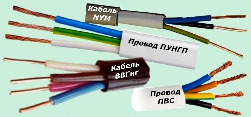 Кабели и провода для домашней проводки